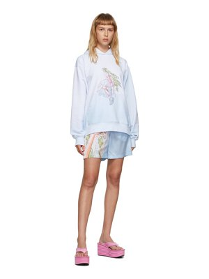 I'm Sorry by Petra Collins ssense exclusive blue & white graphic pullover hoodie