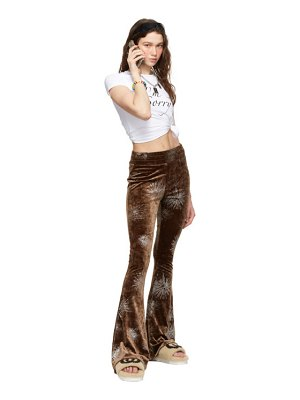 I'm Sorry by Petra Collins ssense exclusive brown flare devore lounge pants