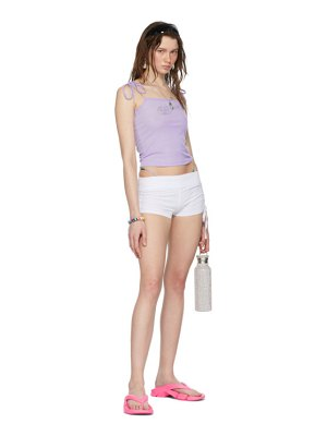 I'm Sorry by Petra Collins ssense exclusive purple rib tank top