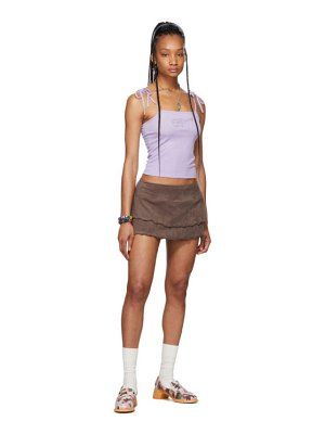 I'm Sorry by Petra Collins ssense exclusive  ruffled dancer miniskirt