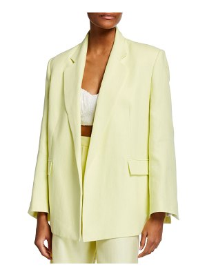 In The Mood For Love Claire Oversized Linen Jacket