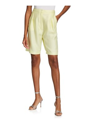 In The Mood For Love Rose High-Rise Linen Shorts