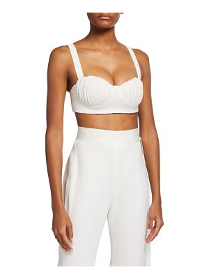 In The Mood For Love Una Sequined Bustier Crop Top