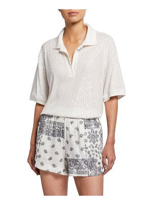 In The Mood For Love Williams Sequined Collared Top