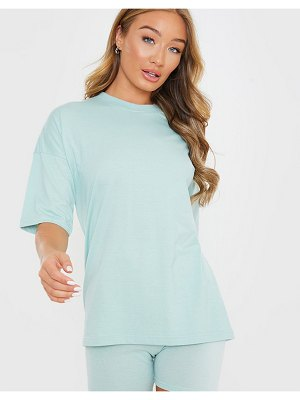 In The Style x siannise fudge oversized t shirt in sage-blues