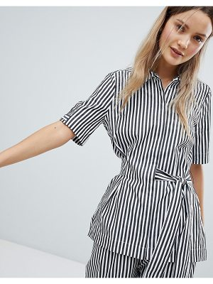 In Wear Polina Stripe Tie Front Blouse