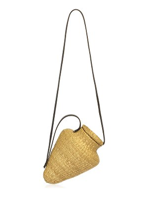 Inès Bressand grand amphore straw top handle bag