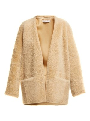 INÈS & MARÉCHAL egypte collarless shearling coat