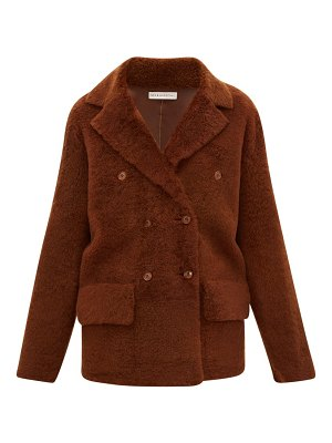 INÈS & MARÉCHAL frou frou double-breasted shearling peacoat