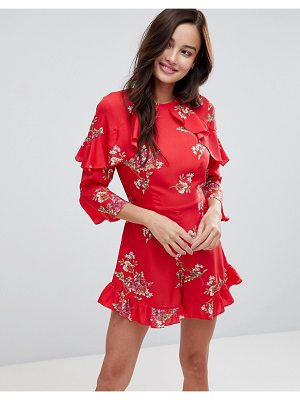Influence Frill Detail Floral Romper