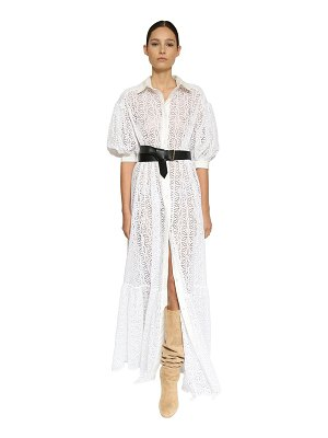 INGIE PARIS Eyelet lace long shirt dress