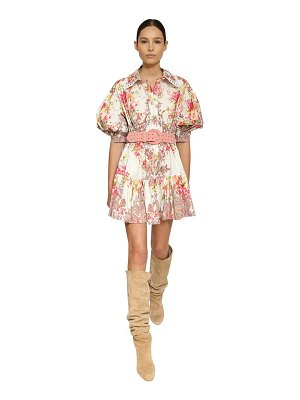 INGIE PARIS Floral print cotton poplin shirt dress