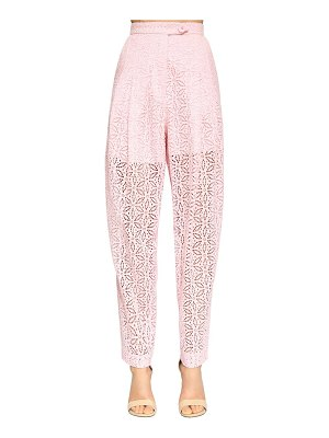 INGIE PARIS High waist eyelet lace pants