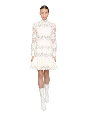 INGIE PARIS Lace & cady mini dress