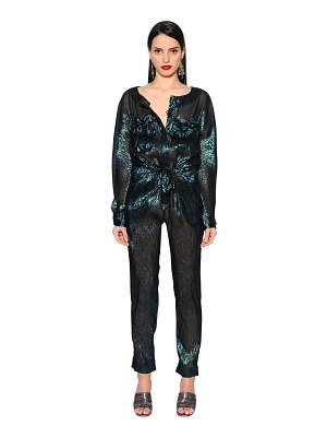 INGIE PARIS Long lamé jumpsuit