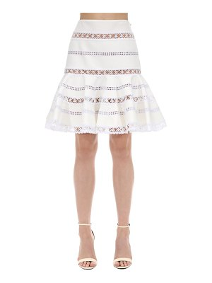 INGIE PARIS Ruffled lace & cady mini skirt