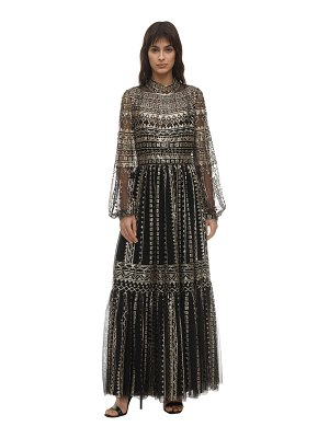 INGIE PARIS Sequined tulle midi dress