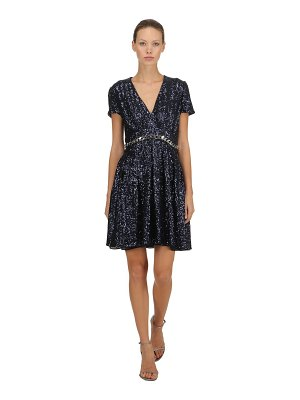INGIE PARIS Sequins dress w/ chain trim