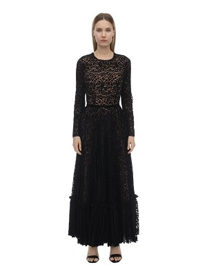 INGIE PARIS Velvet & lace midi dress