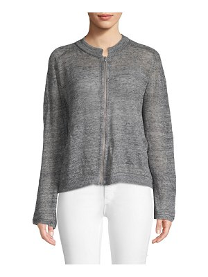 Inhabit Full-Zip Linen Bomber Jacket
