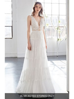 Inmaculada Garcia olivinia lace a-line gown
