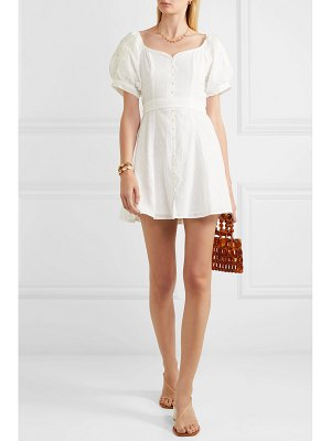 Innika Choo embroidered fil coupé ramie mini dress