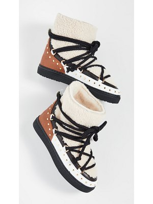 INUIKII curly rock shearling sneakers
