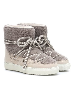 INUIKII shearling-trimmed ankle boots