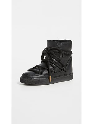 INUIKII full leather shearling sneakers