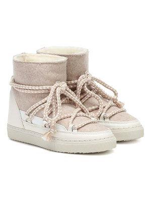 INUIKII sneaker wool and leather boots