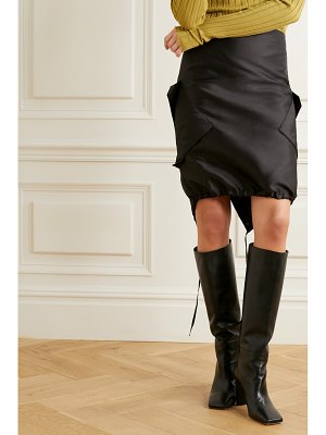 Ioannes combat silk and cotton-blend dupioni skirt