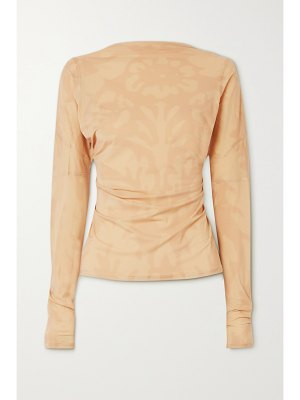 Ioannes open-back paneled printed stretch-jersey top