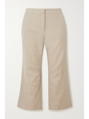 Ioannes racing cropped woven flared pants