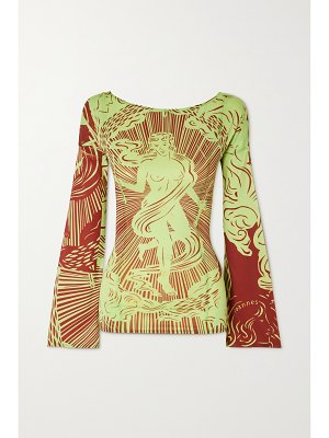 Ioannes tarot printed recycled stretch-jersey top