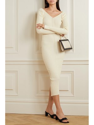Ioannes tights ribbed wool-blend dress