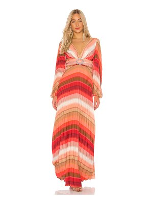 IORANE tropical rainbow maxi dress