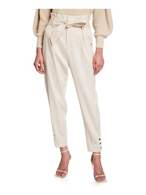 IRO Borcie Belted High-Rise Ankle Pants