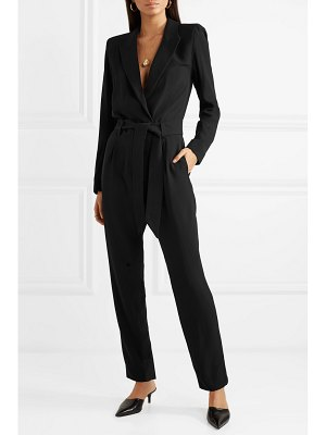 IRO delicate belted wrap-effect crepe jumpsuit