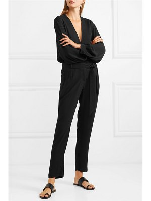 IRO frame belted crepe jumpsuit