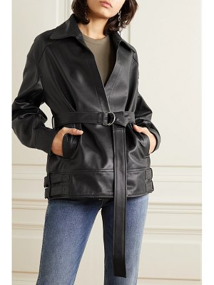 IRO howell belted leather jacket