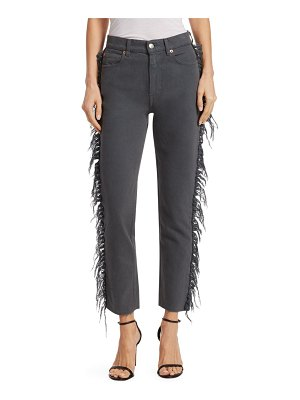 IRO Jeans Movement Fringe-Trimmed Cropped Jeans