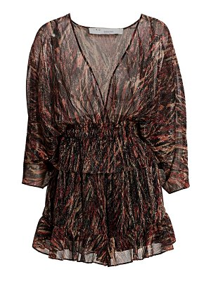 IRO paronie metallic print deep v-neck romper