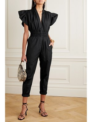 IRO pleona ruffled cotton-poplin jumpsuit