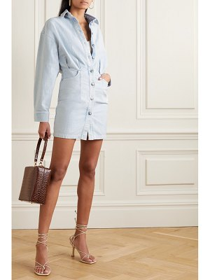 IRO raffa denim mini shirt dress