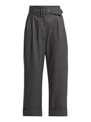 Isa Arfen belted cropped wool trousers