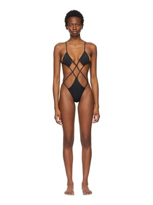 Isa Boulder argyle one-piece swimsuit