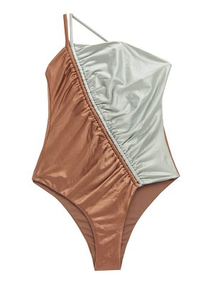 Isa Boulder leonard asymmetric two-tone swimsuit