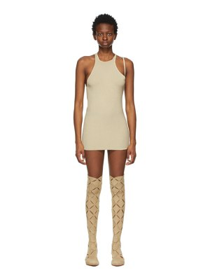 Isa Boulder ssense exclusive beige mini mini dress