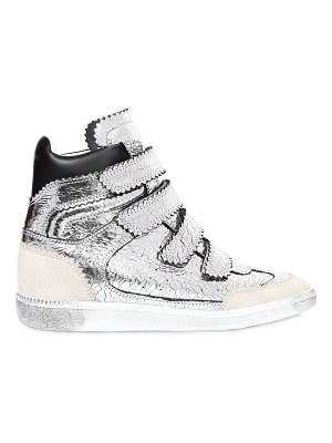 Isabel Marant 40mm bilsy crackled leather sneakers