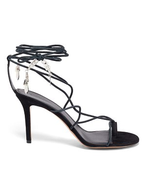 Isabel Marant askee bead-embellished rope and suede sandals